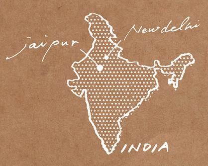SUVALNAの木版染めはインドのジャイプルで作られています。