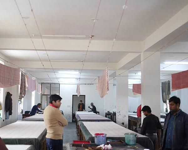 インドジャイプルのブロックプリント工房。